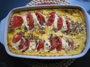 chèvreチーズとトマトのフラン_f0103676_16161619.jpg