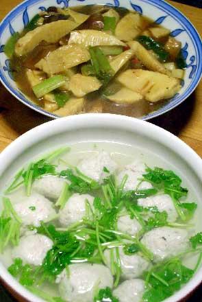 沖ギスの魚丸スープとたけのこのうま煮_d0043225_2313176.jpg