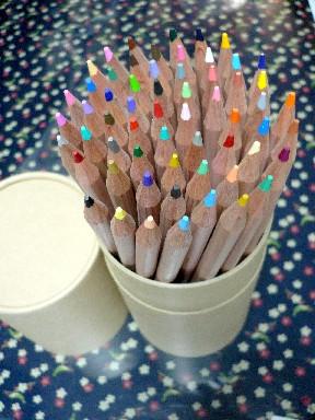 ついでに昨日、無印色鉛筆の色見本作ってみた !