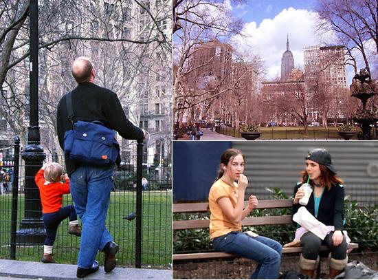 春の到来と公園の様子-Madison Square Park_b0007805_6465767.jpg