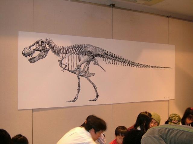 Corvoさんの恐竜画&教え子の結婚記念パーティー_e0064457_172220.jpg