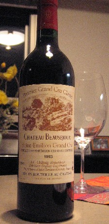 Chateau Beausejour Duffau-Lagarrosse          Premier Grand Cru Classe 1993_c0013687_19235542.jpg