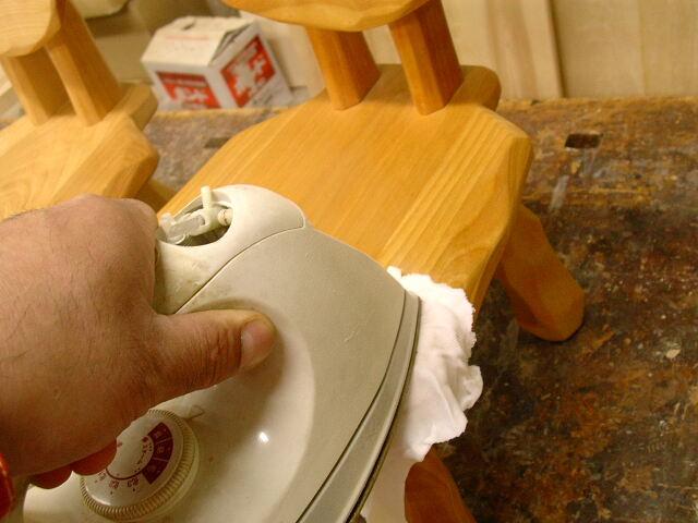 こねこ椅子補修 カウンターチェア テーブル天板_e0072513_723749.jpg