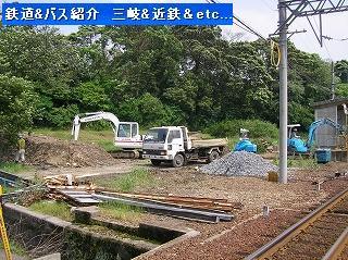 Vol,220   三岐鉄道北勢線 (旧)上笠田駅 解体へ_e0040714_14232092.jpg