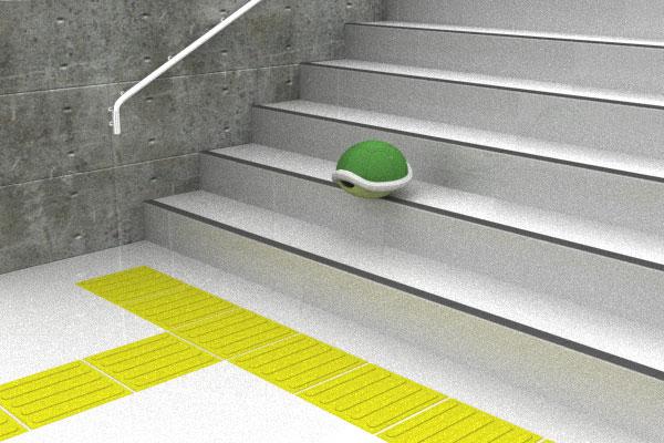 ノコノコの甲羅と階段