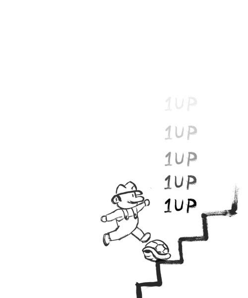 無限1UPのイラスト