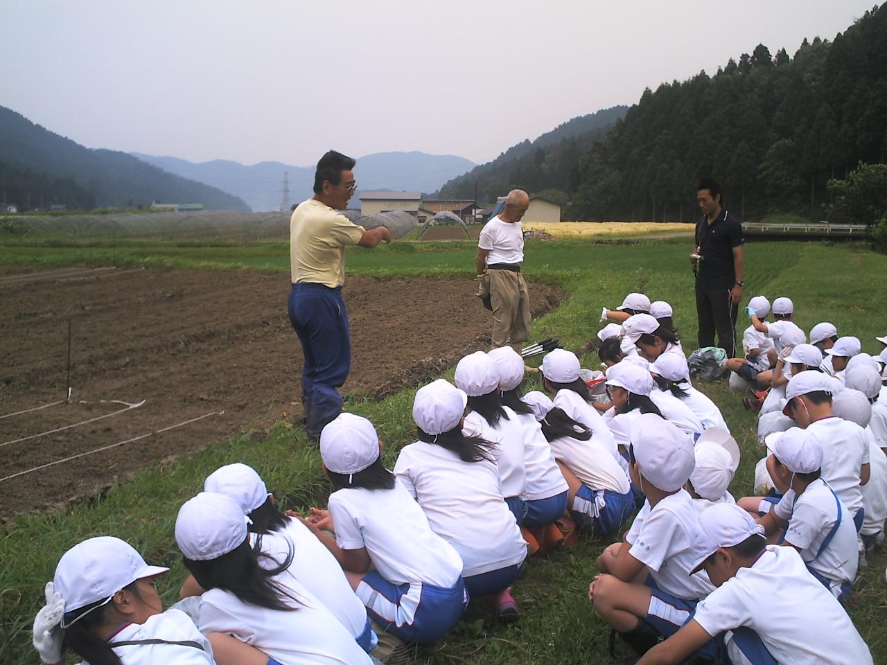 北新庄小学校の3年生もがんばって種まき!_e0061225_1557435.jpg