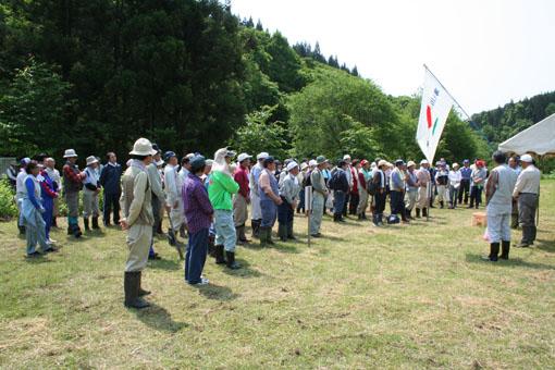 白神山地のブナの植林 2:開会式_e0054299_2141381.jpg