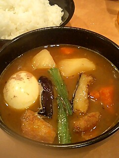 『スープカレーキッチン』増刷記念+カレー_c0033210_10401617.jpg
