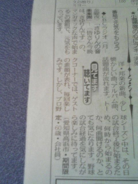 中日新聞に載せて頂きました!_e0013944_031249.jpg