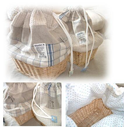 小物入れに便利なカゴ巾着&スプールスタンド_f0023333_925180.jpg