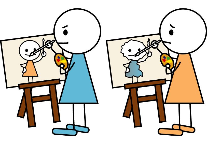 上手/下手 : 偏寝Illustrations