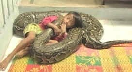 ★6mのパイソンと戯れる6歳のカンボジアの男の子(◎_◎) _f0100060_9264613.jpg