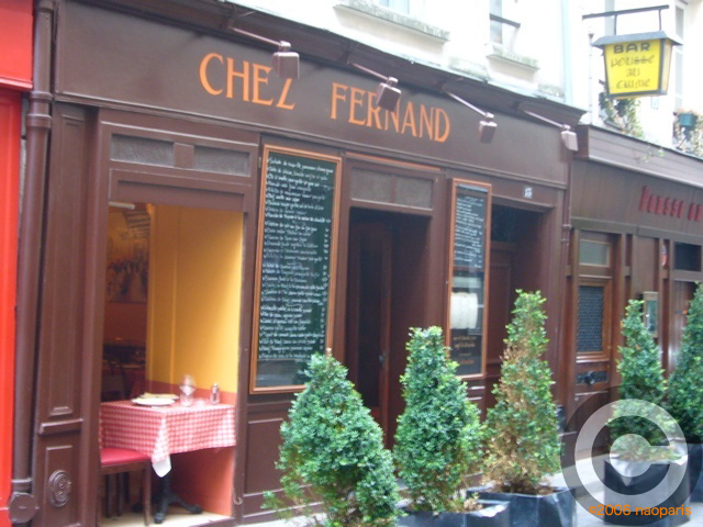 ■ウチの近所の評判のいいお店CHEZ FERNAND(パリ)_a0014299_19334091.jpg