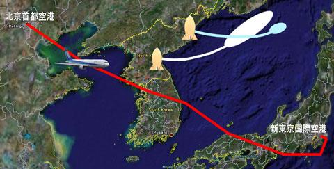 私を乗せた飛行機が北朝鮮のミサイルに撃ち落されるのではないかと心配でした。_b0047829_8501533.jpg
