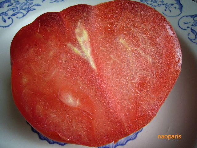 ■COEUR-DE-BOEUF(牛の心臓)という名前のトマトを食す(ボルドー)_a0014299_17344437.jpg