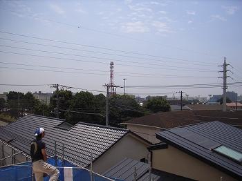 猛暑の屋根_c0019551_1874516.jpg