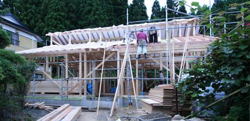 河辺の家03:軸組と屋根組_e0054299_8262545.jpg