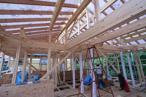 河辺の家03:軸組と屋根組_e0054299_8263842.jpg