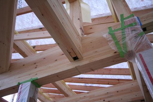 河辺の家03:軸組と屋根組_e0054299_8265846.jpg