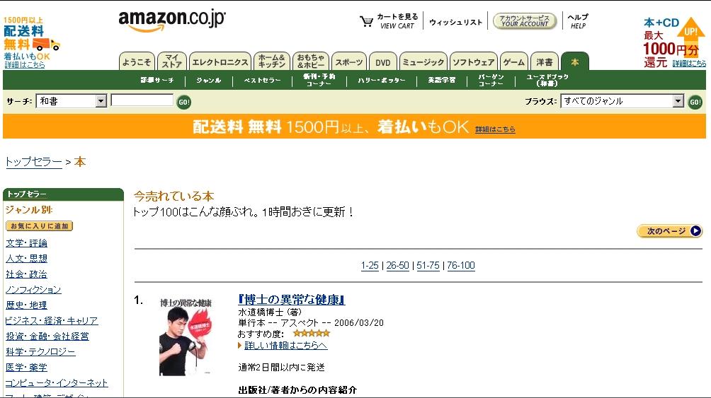 『博士の異常な健康』 が、アマゾンで異常な売れ行きを示しているワケ。_c0016141_1742057.jpg