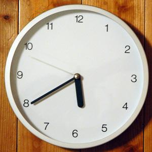 無印良品「駅の時計・電波ウォールクロック」