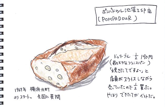 ポンパドウル のフランスパン_f0072976_23243560.jpg