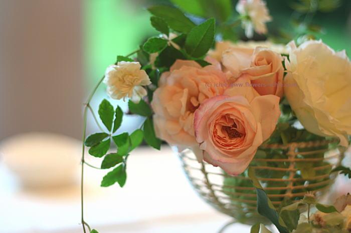 ラマージュ様の装花 初夏 ガラスを使って2_a0042928_1595260.jpg