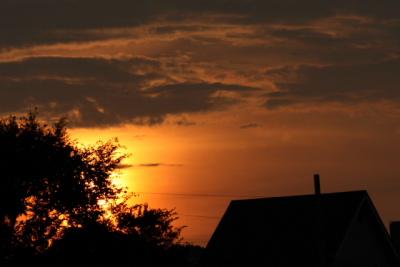 夕焼け そして 月_f0037633_18231867.jpg