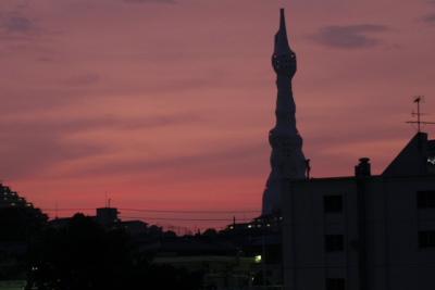 夕焼け そして 月_f0037633_18233435.jpg