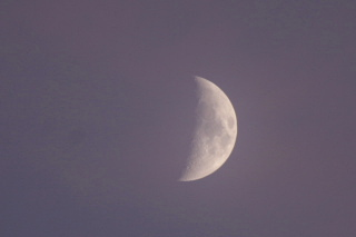 夕焼け そして 月_f0037633_18241484.jpg