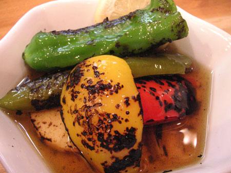 定司の野菜の焼きびたし_f0053279_1182360.jpg