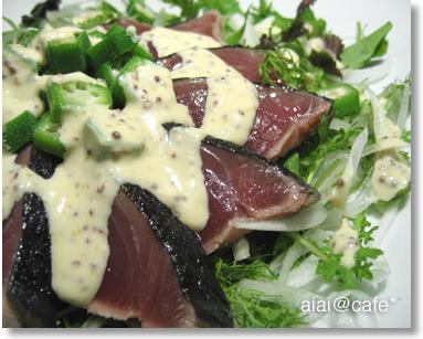 マヨネーズベースとガーリックオイルが効いた「カツオのサラダ2種」【レシピ付き】
