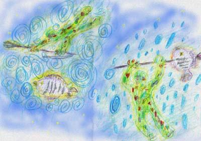 緑のおっさん魚を突く☆ (絵日記)_e0008674_917372.jpg
