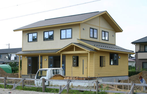 八郎潟の家11:完成直前_e0054299_9171970.jpg