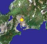 桃花台の衛星写真