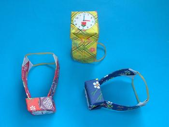 クリスマス 折り紙 折り紙 腕時計 : origami01.exblog.jp
