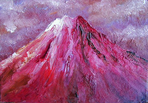 なかなか見れない赤富士_b0089338_2223910.jpg