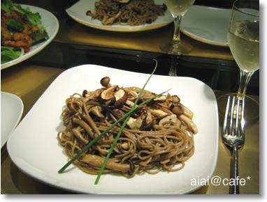 松茸の蕎麦パスタ_a0056451_13435881.jpg