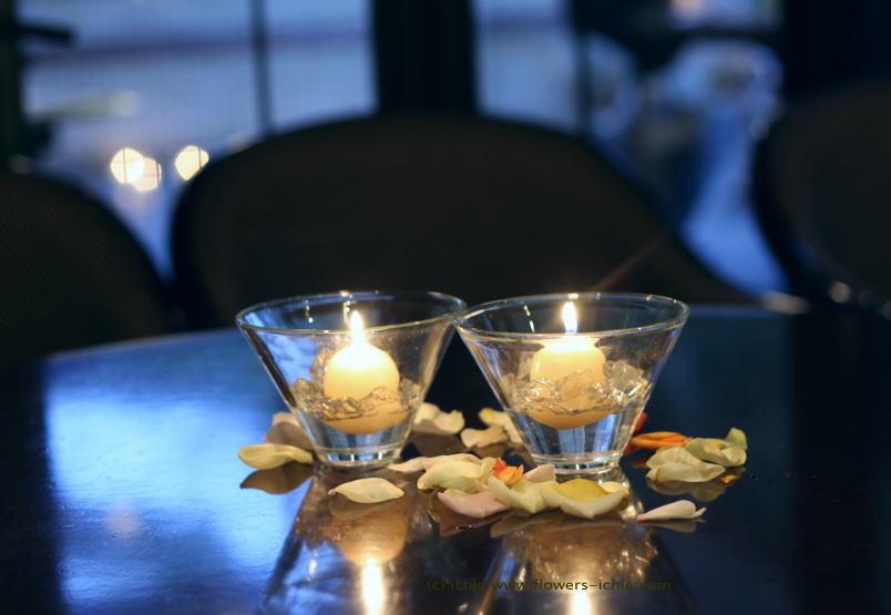 リストランテのウェディング 秋冬、キャンドルと装花_a0042928_2340851.jpg