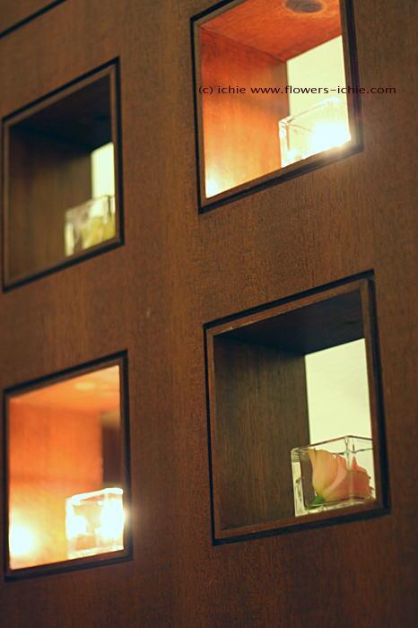 リストランテのウェディング 秋冬、キャンドルと装花_a0042928_2354319.jpg