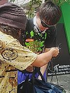 壱歩、ニッポン1周リレーの第二走者、内海健至さんが四国へ向け出発 東京都渋谷区_f0061306_23482834.jpg
