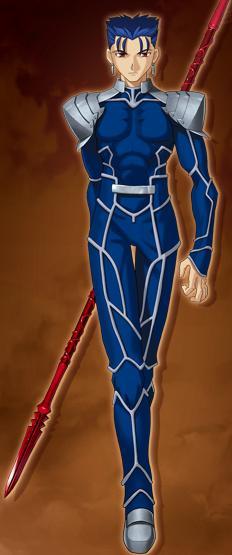 ランサー真命:クーフーリン。アイルランドの英雄。クーフーリンの武器はあま... Fate/sta