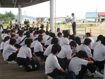 東京中学生、農村体験学習に_b0092684_7313988.jpg
