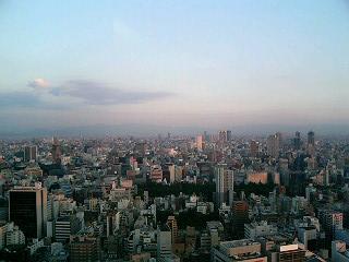 夕焼けに包まれ始めた大阪の町_a0004752_19551663.jpg