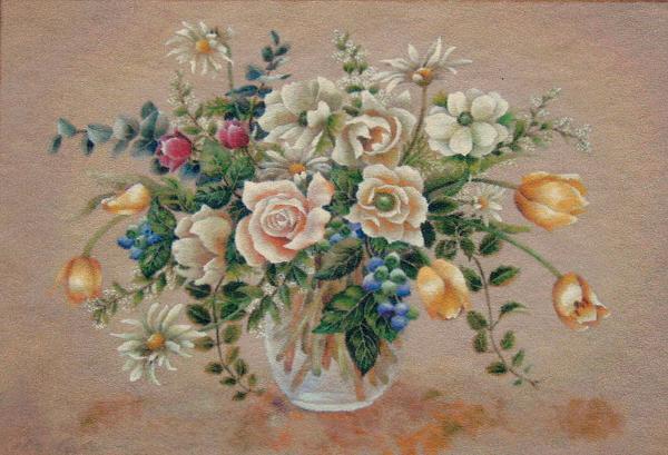 白い花とブルーベリー_b0089338_3554743.jpg