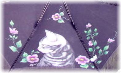 アメショーの傘とデカ猫ポーチ_b0105719_2225519.jpg