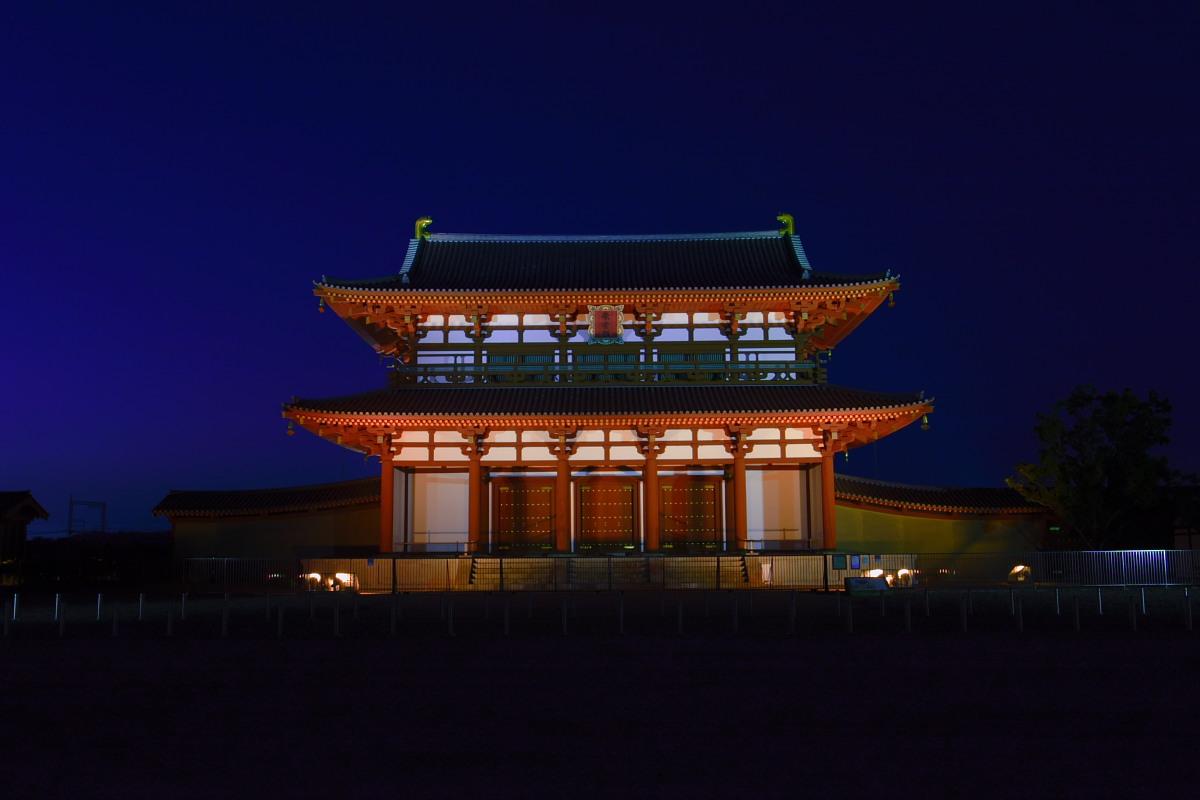 奈良 平城宮朱雀門 ライトアップ_f0021869_2355421.jpg