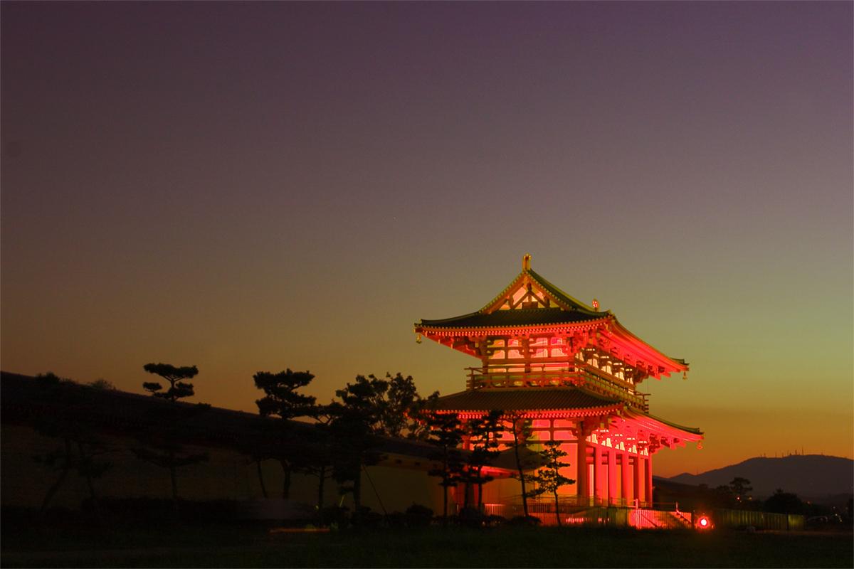 奈良 平城宮朱雀門 ライトアップ_f0021869_235625.jpg