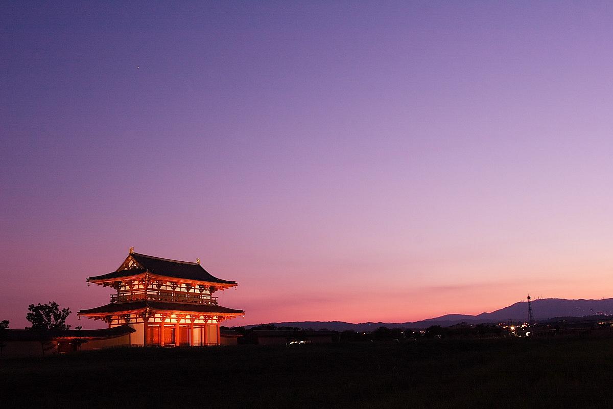 奈良 平城宮朱雀門 ライトアップ_f0021869_23583947.jpg